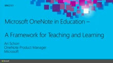 Microsoft OneNote in Education: A Framework for Teaching and Learning