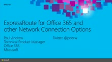 ExpressRoute for Office 365 and other Network Connection Options