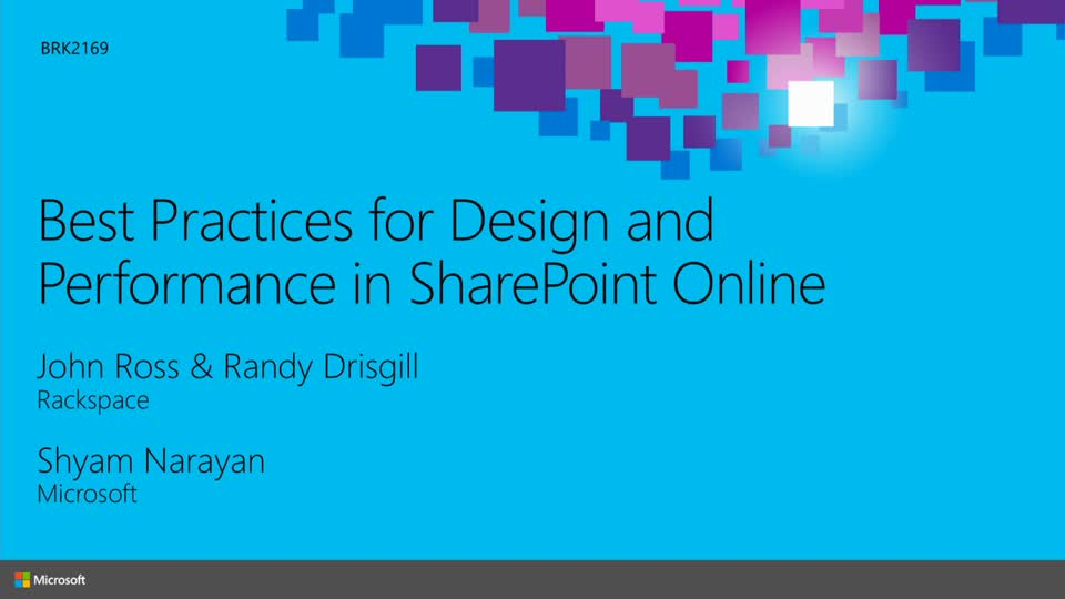 Best Practices for Design and Performance in SharePoint Online