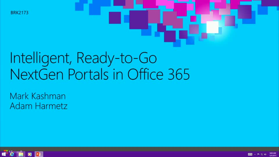 Intelligent, Ready-to-Go NextGen Portals in Office 365