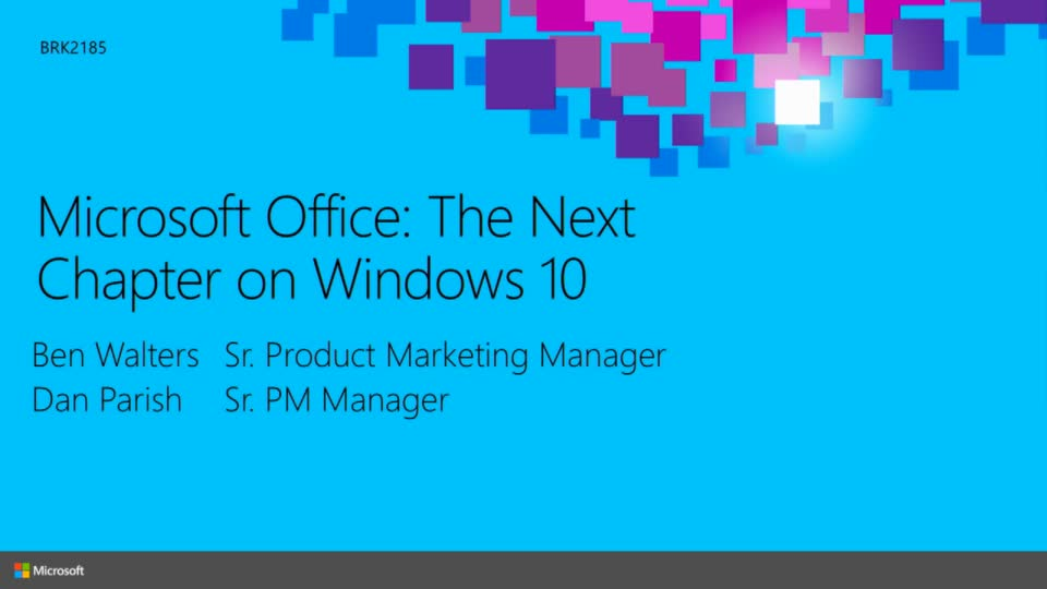 Microsoft Office: the Next Chapter on Windows 10