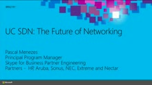 UC SDN: The Future of Networking