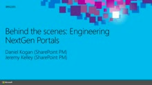 Behind the Scenes: Engineering NextGen Portals