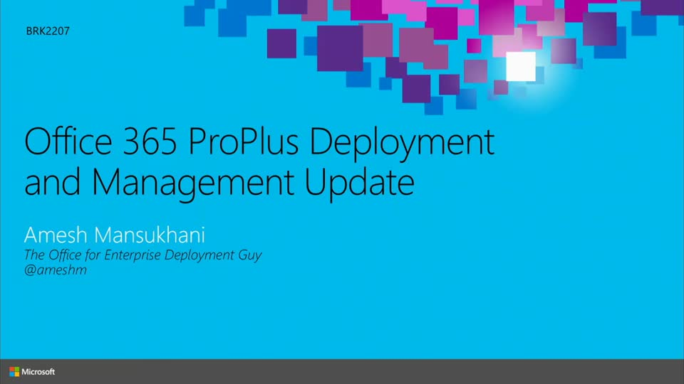 Office 365 ProPlus Deployment and Management Update