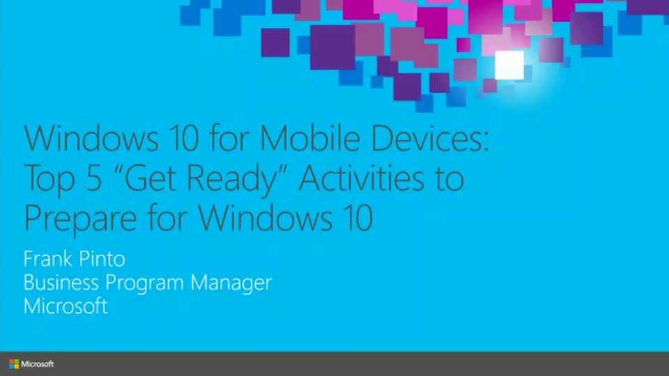 "Windows 10 for Mobile Devices: Top 5 ""Get Ready"" Activities to Prepare for Windows 10"