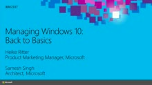 Managing Windows 10: Back to Basics