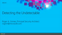 Detecting the Undetectable