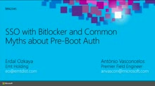 Single Sign On (SSO) with BitLocker and Common Myths about Pre-Boot Authentication Attacks