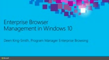 Windows 10 Browser Management