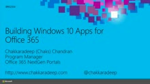 Building Windows 10 Apps for Office 365
