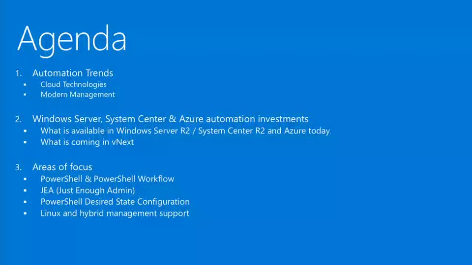 Automation Overview and Roadmap for Windows Server and System Center