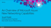 An Overview of Microsoft Azure Networking Capabilities