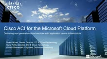 Cisco: Microsoft Cloud Meets Cisco's Application Centric Infrastructure (ACI)