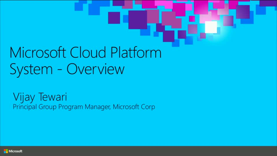Overview of the Microsoft Cloud Platform System