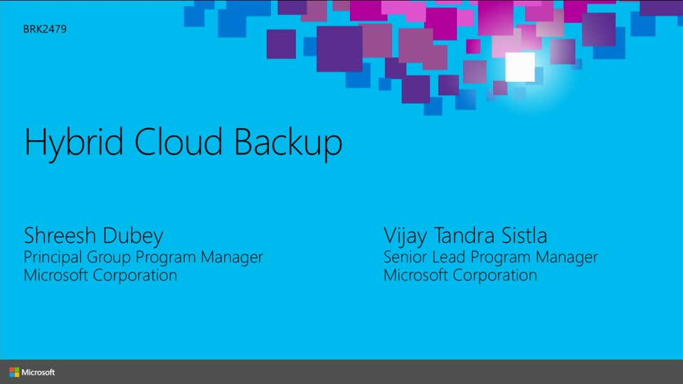 Cloud Integrated Backup with Microsoft System Center and Azure Backup