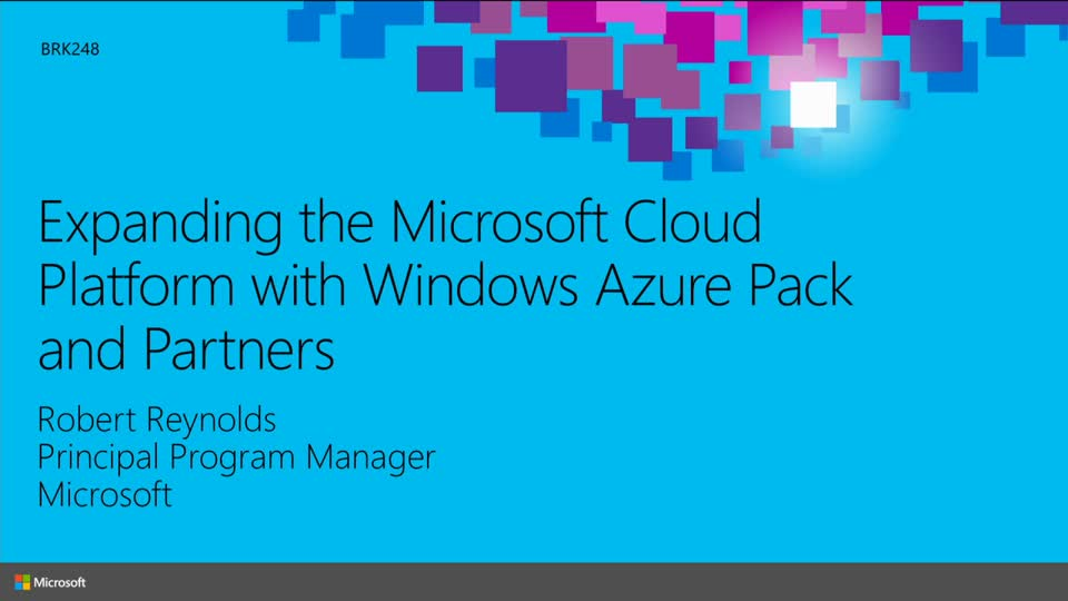 Expanding the Microsoft Cloud Platform with the Windows Azure Pack and Partners