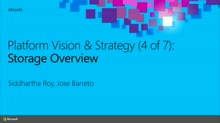 Platform Vision & Strategy (4 of 7): Storage Overview