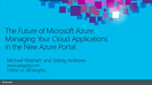 The Future of Microsoft Azure: Managing Your Cloud Applications in the New Azure Portal
