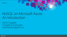 NoSQL on Microsoft Azure: An introduction