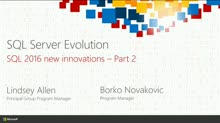 The SQL Server Evolution: Deep Dive