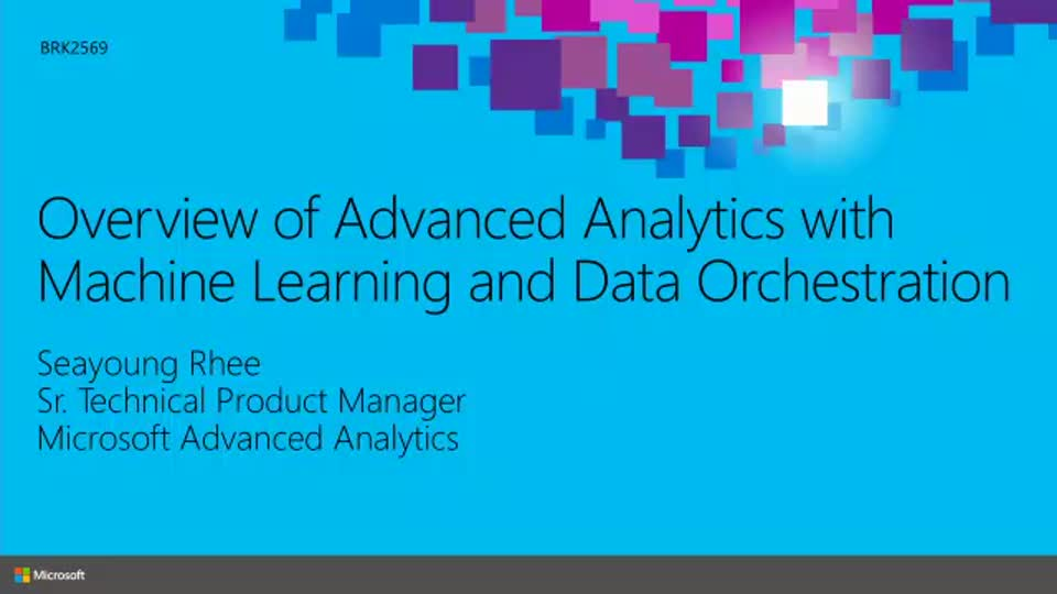 Overview of Advanced Analytics with Machine Learning and Data Orchestration