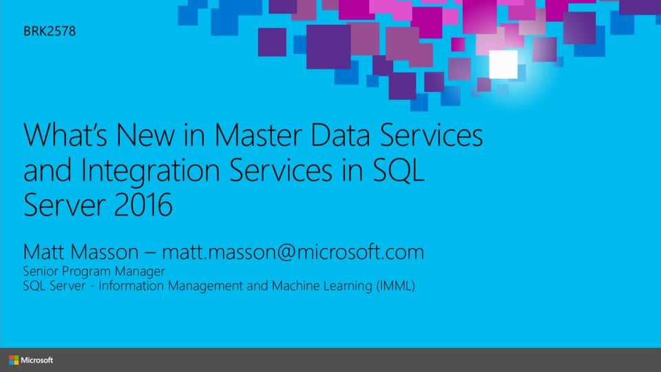 What's New in Master Data Services (MDS) and Integration Services (SSIS) in SQL Server