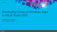 Developing Windows 10 Universal Apps in Microsoft Visual Studio 2015