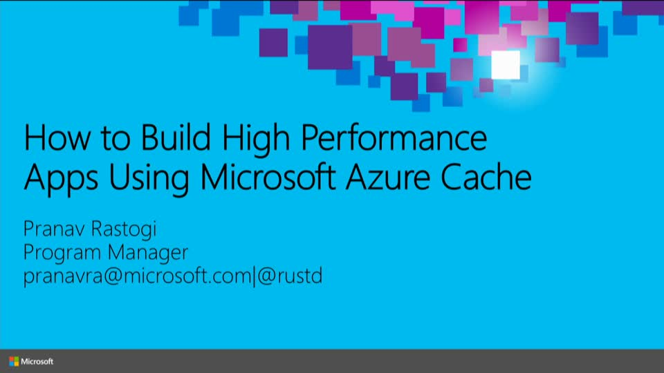 How to Build High Performance Apps Using Microsoft Azure Redis Cache