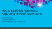 How to Build High Performance Apps Using Microsoft Azure Cache