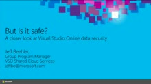 But, Is It Safe? A Closer Look at Visual Studio Online