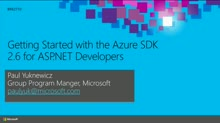 Getting Started with the Microsoft Azure SDK for ASP.NET Developers