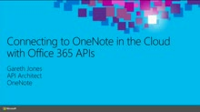 Developing with Microsoft OneNote in the Cloud with Office 365 APIs