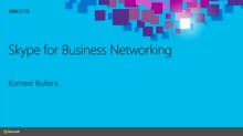 Skype for Business Networking