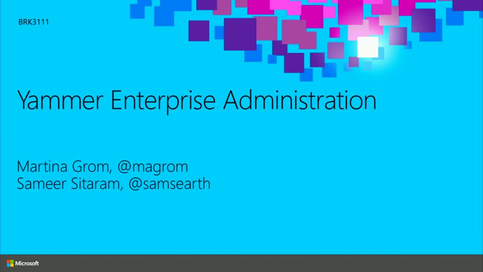 Yammer Enterprise Administration