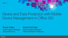 Device and Data Protection with Mobile Device Management in Office 365