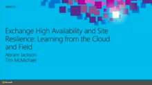 High Availability and Site Resilience: Learning from the Cloud and Field