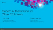 Modern Authentication for the Office 2013 Clients