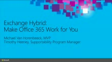 Exchange Hybrid: Make Office 365 Work for You