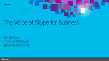 The Voice of Skype for Business: An Overview