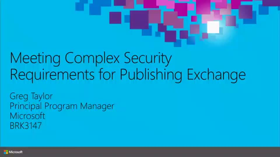 Meeting Complex Security Requirements for Publishing Exchange