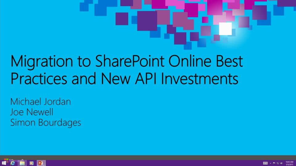 Migration to SharePoint Online Best Practices and New API Investments