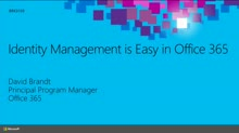Identity Management Is Easy in Office 365