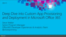 Deep Dive into Custom App Provisioning and Deployment in Microsoft Office 365