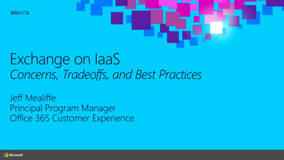 Exchange on IaaS: Concerns, Tradeoffs, and Best Practices