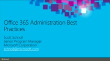 Office 365 Administration Best Practices