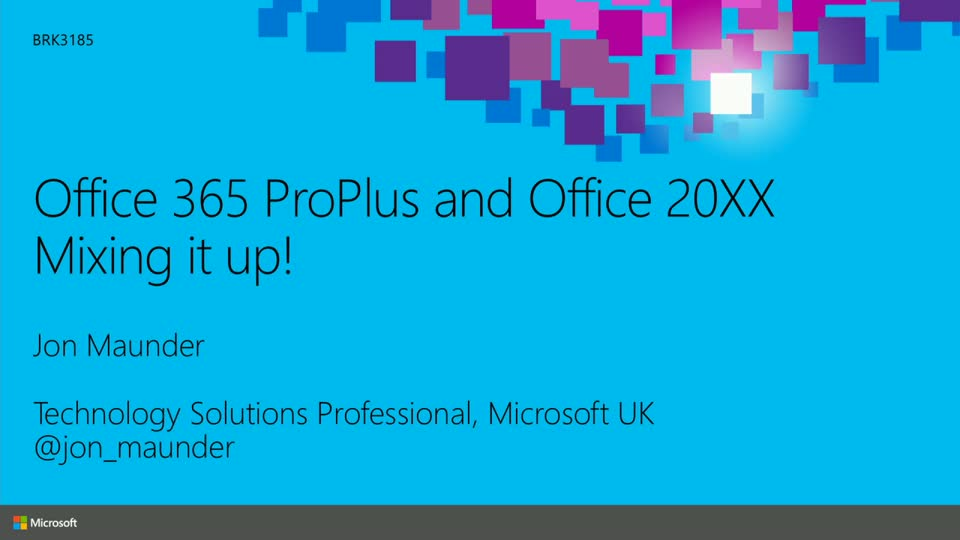 Microsoft Office 365 ProPlus and Office 20XX: Mixing It Up!