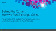 Behind the Curtain: Running Exchange Online