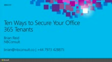 Ten Ways to Secure Your Office 365 Tenants