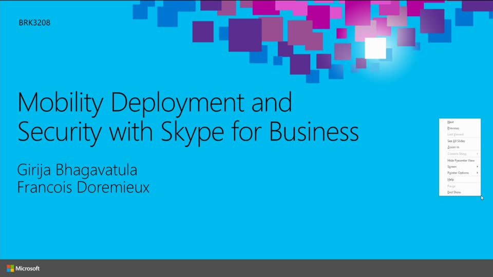 Mobility Deployment and Security with Skype for Business