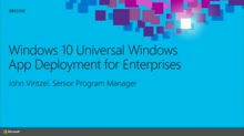 Windows 10 Universal App Deployment for Enterprises